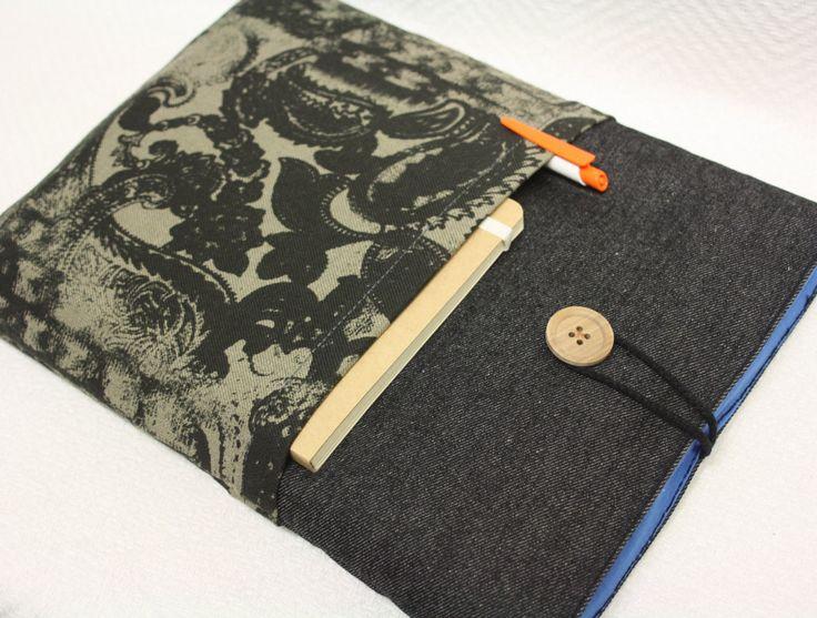 "Mac Book  13""sleeve/ laptop-Mac Book 13 PRO/Mac Book 13 Air sleeve/Mac Book 13 case Cover,Paddet Sleeve,13 case/zwarte jeans door TASAMA op Etsy"