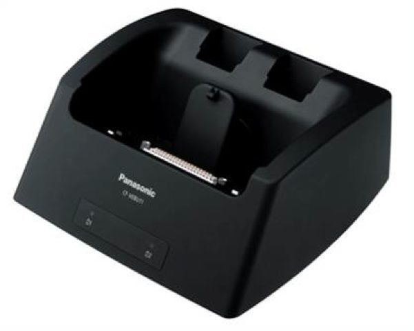 Panasonic Toughbook CF-U1 Desktop Cradle Docking Station with 2-Bay Battery Charger. Model No. CF-VEBU11. #Toughbook    Available for purchase at www.pan-toughbooks.com (+44) 0845-4591657