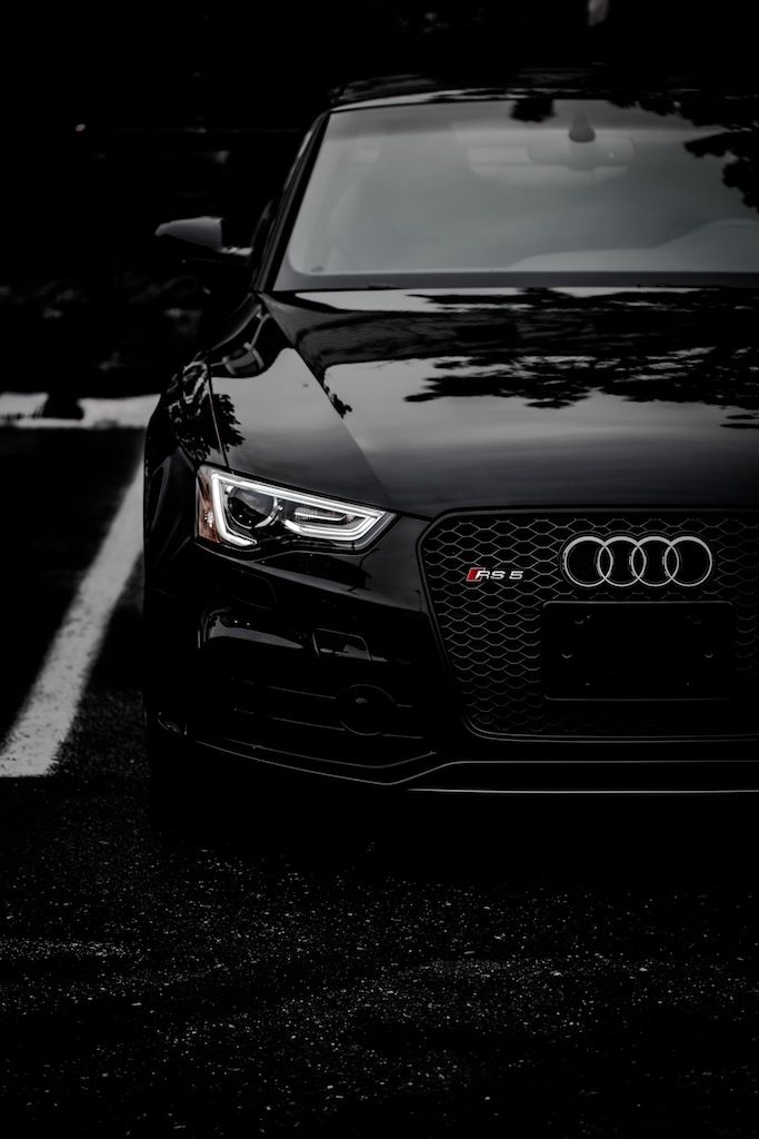 Black Audi RS5.  A nice car I might actually be able to afford some day.