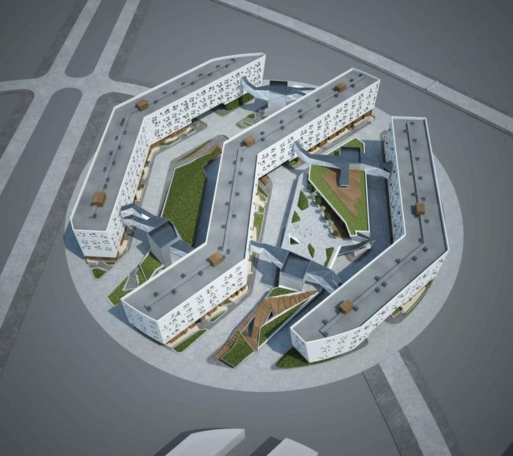 Block No.5 Residential Area in 'Skolkovo' Innovative Center - TOTEMENT   PAPER
