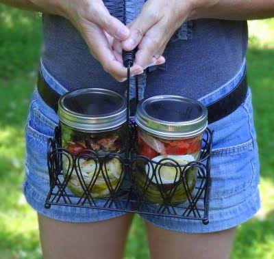 mason jar meals: the recipes: Meals Recipes, Healthy Meals, Mason Jars Salad, Salad Recipes, Red Kitchens, Mason Jars Meals, Clever Ideas, Jars Recipes, Mason Jar Meals