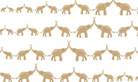 Wallpaper | Baby Elephant Walk | Jill Malek