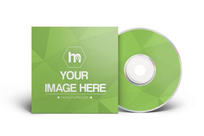 online mockup generator template with a blank cd dvd disc a paper