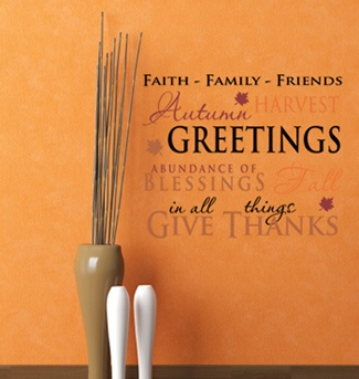 We Often Forget To Give Thanks When We Should, But Decals Are A Great Way  To Add A Gentle Reminder. Find This Pin And More On Autumn Quotes ...