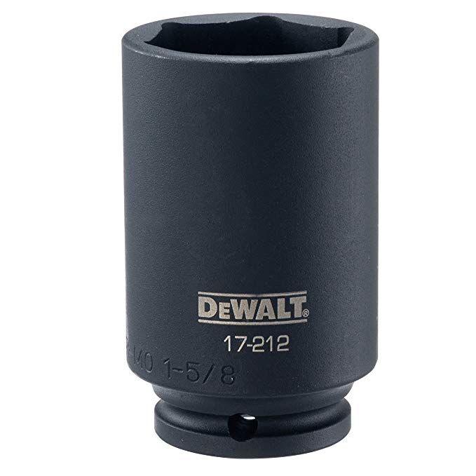 Dewalt Deep Impact Socket Sae 1 2 Inch Drive 1 5 8 Inch Dwmt17212b Review Deep Impact Dewalt Impact Sockets