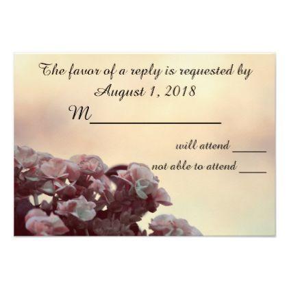 'Begonia Wedding' RSVP Card 400 - invitations custom unique diy personalize occasions