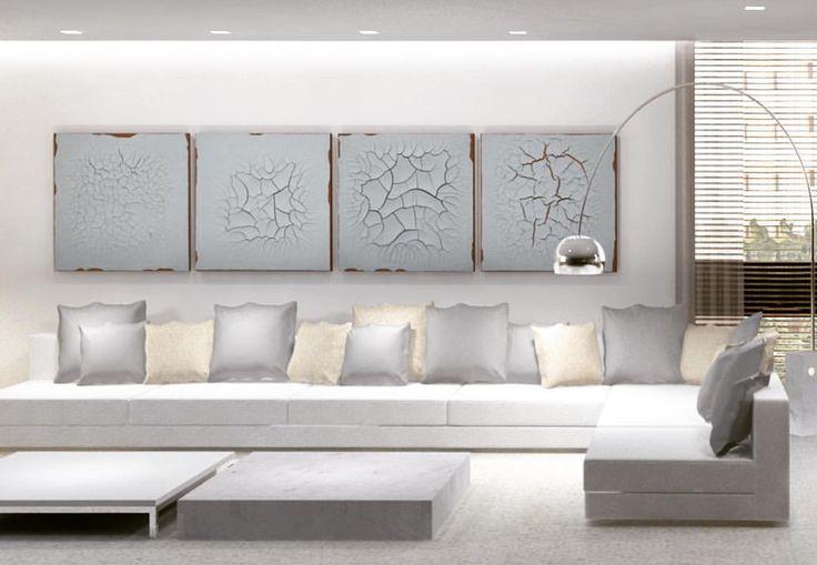 """16 curtidas, 2 comentários - @feliperassini no Instagram: """"3D apto MM _ destaque para as obras de Adriana Varejão #light #3d #interior #interiores…"""""""