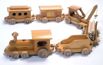 Image detail for -Lumberjack Toy Train Woodworking Plan and Patterns
