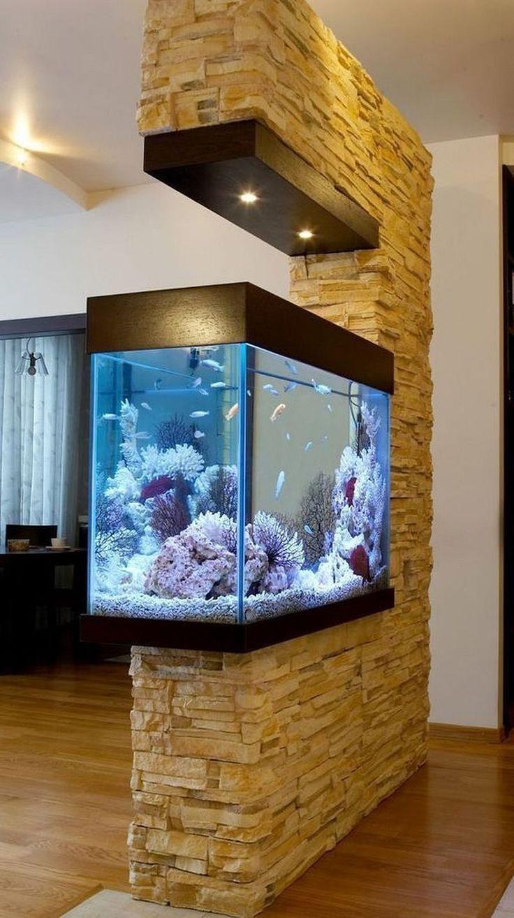 Awesome 50+ Stunning Aquarium Design Ideas for Indoor Decorations http://modernhousemagz.com/50-stunning-aquarium-design-ideas-for-indoor-decorations/ #AquariumDecorationsIdeas