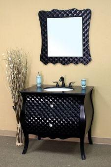 stunning 36 inch bathroom vanity in high gloss black finish beautiful