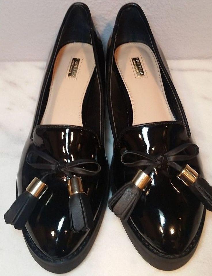 CARVELA Kurt Geiger Womens Loafers Platform Black Patent Leather Creeper Shoes 6 #CarvelaKurtGeiger #Loafers #Casual