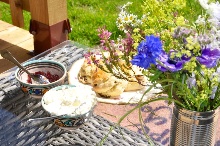 Enjoy English Tea on your deck while gazing at the sheep surrounding you #glamping at Drovers Rest