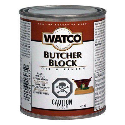 Watco 473ml Butcher Block Oil And Finish