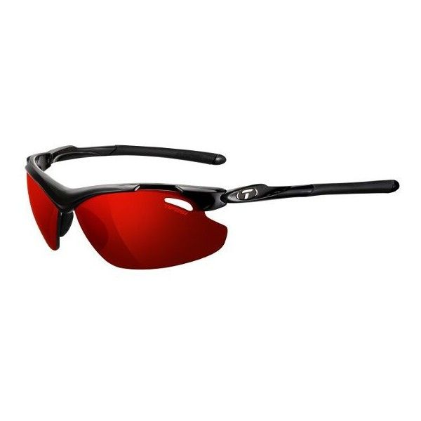 Tifosi Sunglasses - Tyrant 2.0 Gloss Black Interchangeable Sunglasses... ($80) ❤ liked on Polyvore featuring accessories, eyewear, sunglasses, clear lens sunglasses, tifosi glasses, clear eyewear, tifosi and lens glasses