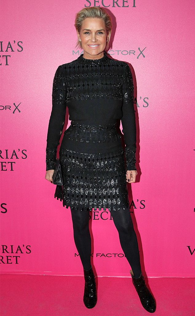 Yolanda Hadid from Victoria's Secret Fashion Show 2016 Pink Carpet Arrivals  Proud mom alert! The former Real Housewives of Beverly Hills star can't wait to watch Gigi and Bella Hadid.