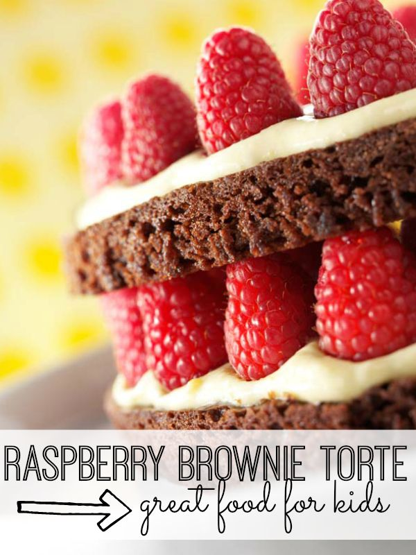 Raspberry Brownie Torte Dessert Kid Food RecipesSweet