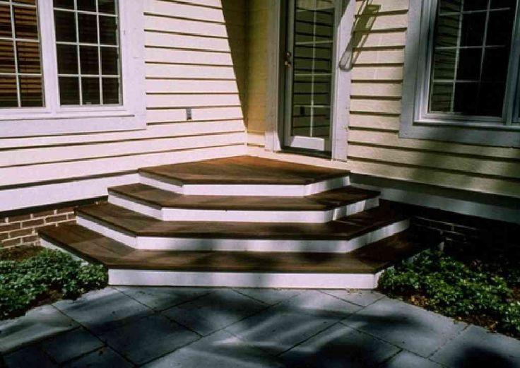 dark treads white risers stair designdeck