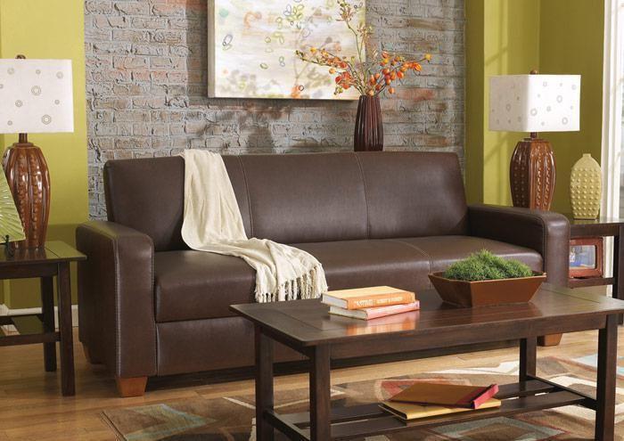 Ashley Furnature - Mia Bark Flip Flop Sofa with Storage $349.99