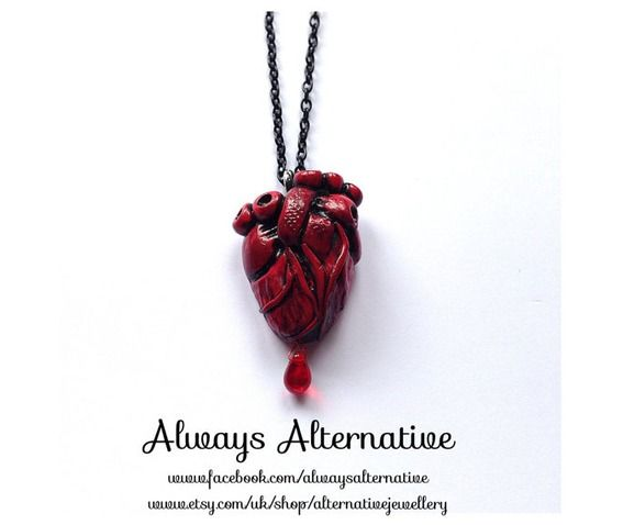 Give someone a piece of your heart with this anatomical heart necklace