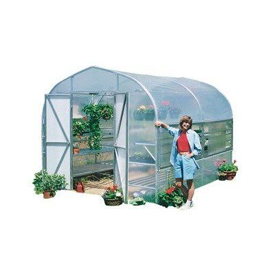 "Home Gardener Polycarbonate Greenhouse Size / Bench Top: 8'6"" H x10' W x 6.' D with Expanded Metal Bench by Poly-Tex. $1616.99. BM2030 Size / Bench Top: 8'6"" H x10' W x 6.' D with Expanded Metal Bench Features: -Designed to be a 3-season greenhouse that allows to get a jump on the spring growing season.-Multilevel benches and hanging basket purlins allow to maximize your growing space.-Durable polycarbonate slide-side panels allow for adjustable ventilation.-Integrated..."