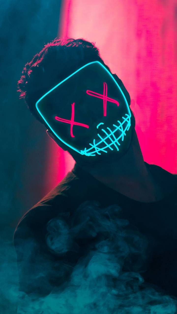 Neon Mask Guy Wallpaper By Amazingwalls 6f Free On Zedge Cool Backgrounds For Iphone Iphone Wallpaper For Guys Cool Wallpaper