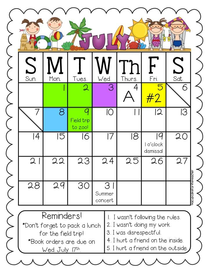 Behavior Calendar Kindergarten : Ideas about behavior calendar on pinterest monthly