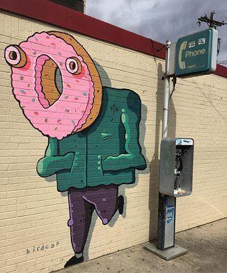 Birdcap in Denver, Colorado, USA, 2016