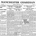 How the Guardian reported the floods that battered the east coast of England in 1953, leaving hundreds dead after sea defences burst and water levels rose 5.6m above sea level.