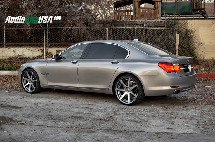 "2008 bmw x5 with Rennen black concave wheels | AudioCityUSA.com - 2010 BMW 750 LI on 22"" Curva C-47 Gun Metal Windows ..."