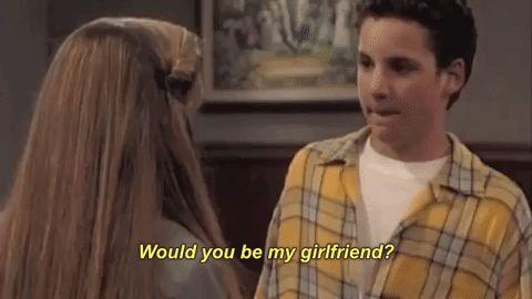girlfriend flirting flirt boy meets world cory matthews ben savage will you be my girlfriend #humor #hilarious #funny #lol #rofl #lmao #memes #cute