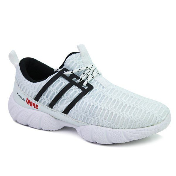 Fashionable Mesh and Lace-Up Design Men's Athletic Shoes #hats, #watches, #belts, #fashion, #style