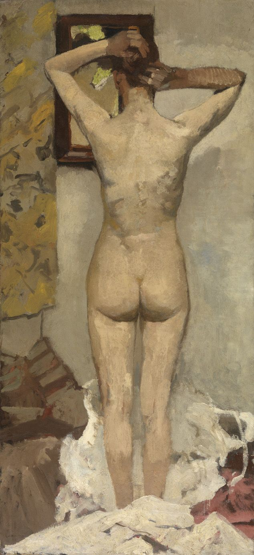 Nude, standing, 1893, George Hendrik Breitner (1857-1923), oil on canvas. The Royal Museum of Fine Arts Antwerp