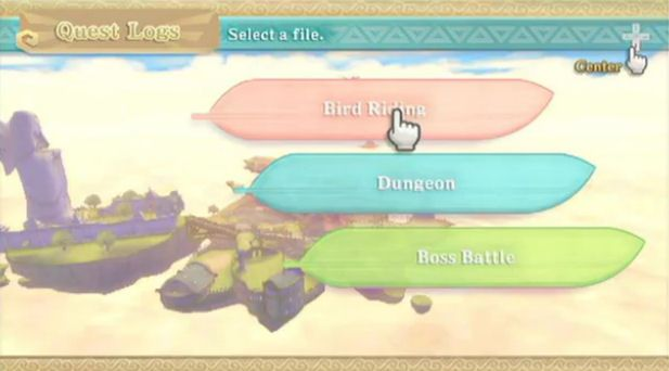 skyward sword menu - Google Search