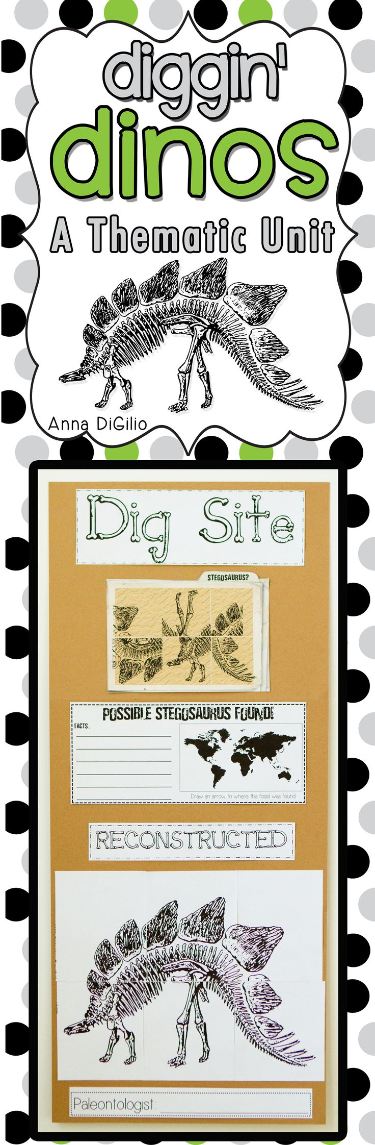 Get ready to Dig into Dinosaurs!  This DINO-mite unit is jam-packed with fun, creative, and interactive activities for your primary students. Take a peek at the preview for a more detailed showcase of what is included in this DINO-mite unit!!!