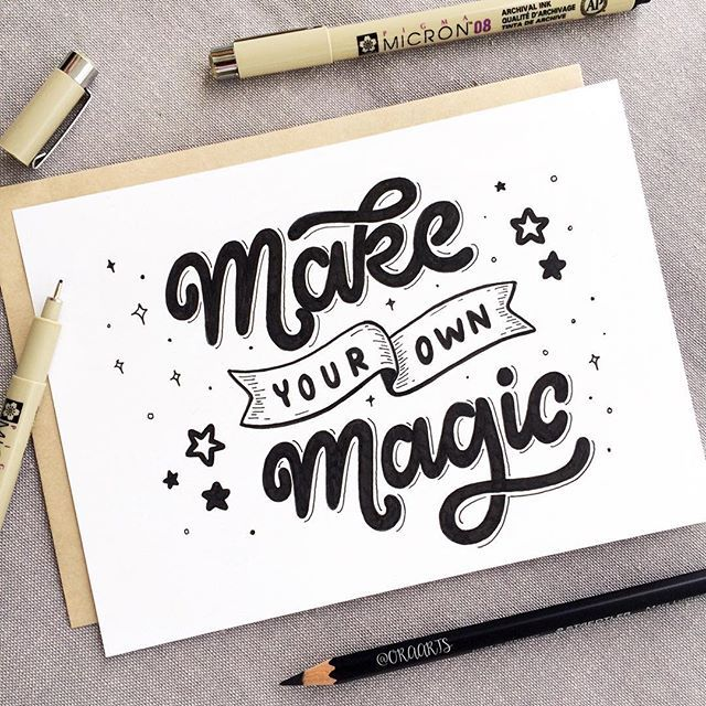 Make your own magic! ✨ . . 86/365 of my project #365daysoflettering #letteringbyora