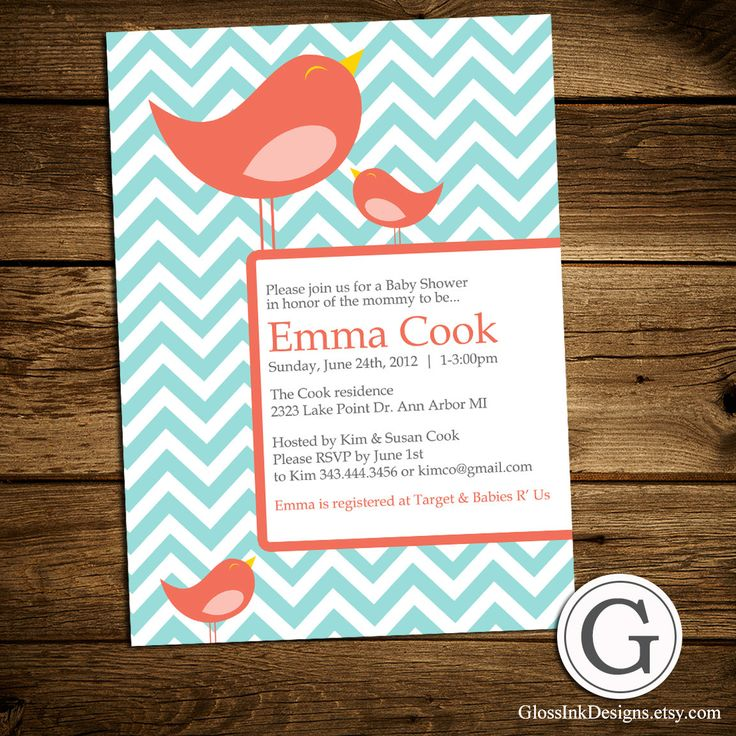 baby shower invitation for twins%0A Baby Shower Invitation  Coral and Blue  Girl  Boy or Twins  Gender Neutral