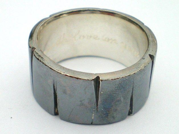 HERCULE - 925er silber Ring 8mm