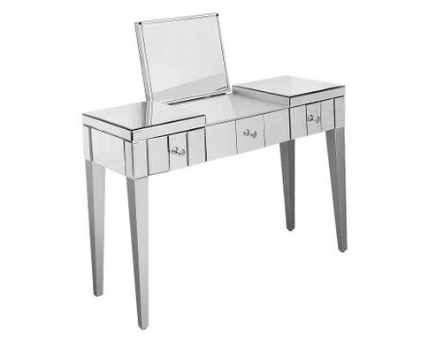 Deluxe Mirrored Three Drawer Console Table FM657