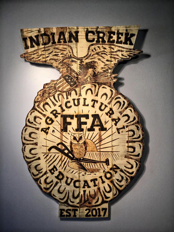 FFA Emblem Wood Burned Pallet Sign