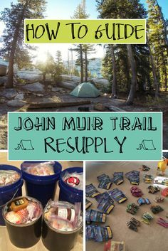 A comprehensive how-to guide to planning your John Muir Trail resupply strategy including resupply points, food packing tips, and mileage charts.