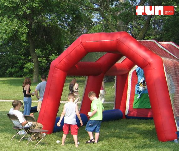 Sports Arena Speed Pitch Inflatable Sports Arena Pitch Baseball Players