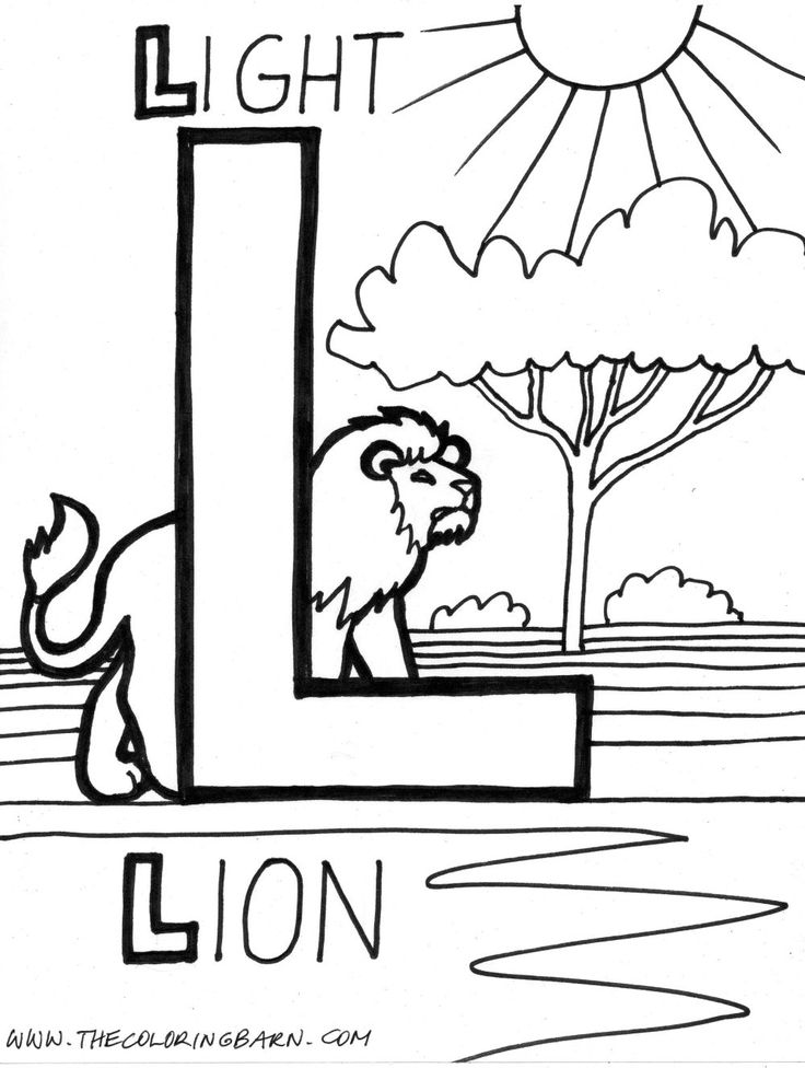 17 best images about alphabet l on pinterest preschool for L coloring pages