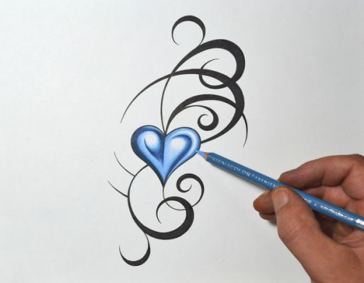 Top Tribal Heart Tattoos Images