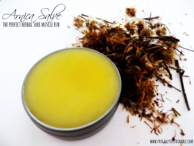 """How to Make Arnica Salve...a perfect non-petroleum derived, chemical-free alternative to commercially-prepared creams. It's an """"herbal Icy Hot"""""""