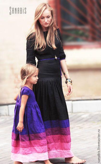 Одежда для девочек, ручной работы. Заказать Фиолетовое платье для девочки. Ксения Берестовая. Ярмарка Мастеров. Детское нарядное платье, фиолетовый