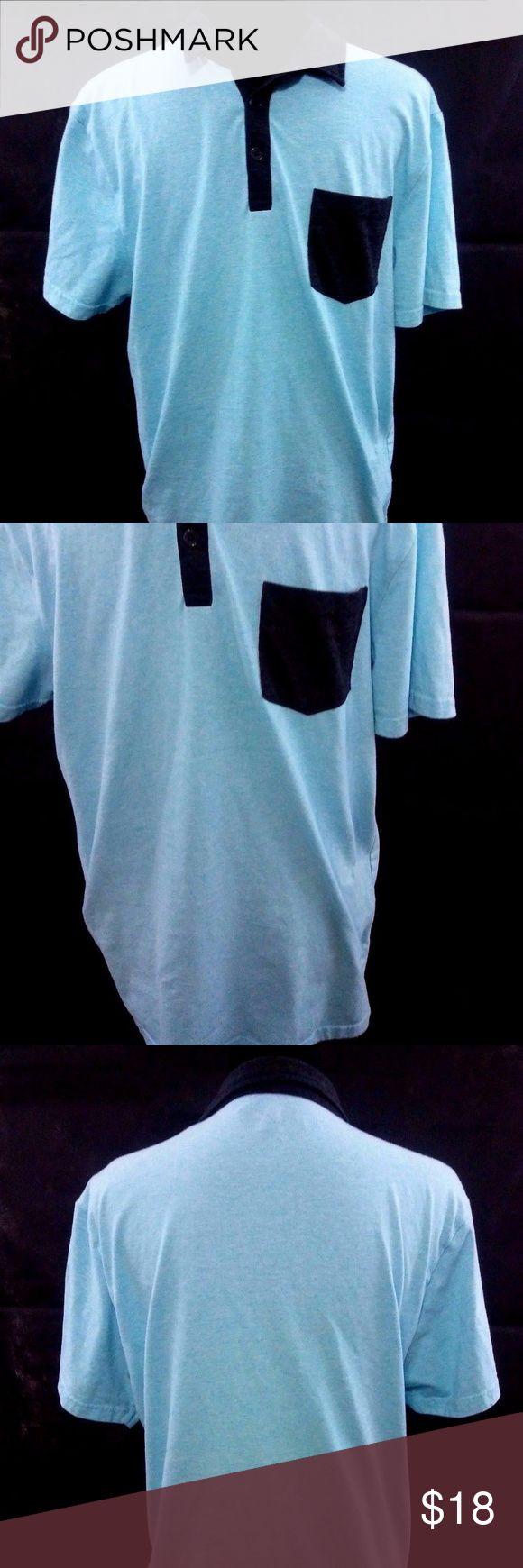 "Retrofit Men's Short Sleeve Polo SZ L Retrofit Brand Short Sleeve Polo L Blue Gray Single Pocket Casual Cotton Shirt  Approximate Measurements:  Pit to Pit: 40""* Shoulder to Shoulder: 18"" Length: 28.5"" Sleeve Length: 8.5""  Item is measured laying flat. Measurements with an asterisk * next to them have been doubled. Retrofit Shirts Polos"