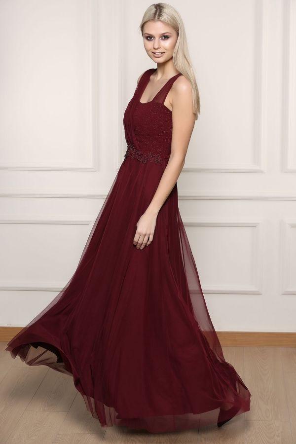 Bordo Abiye Elbise 0012 Kapida Odemeli Ucuz Bayan Giyim Online Alisveris Sitesi Modivera Com Elbise Giyim Resmi Elbise
