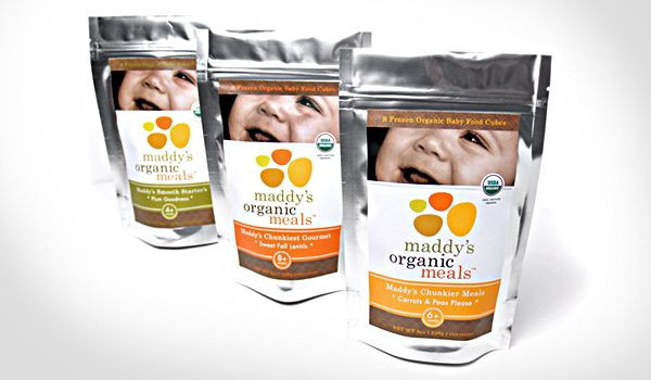 Organic Baby Food Meals Creative