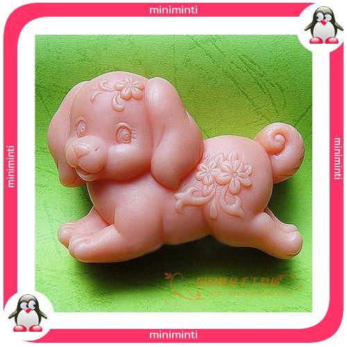 sweety dog soap mold, sevimli köpek sabun kalıbı. www.miniminti.com