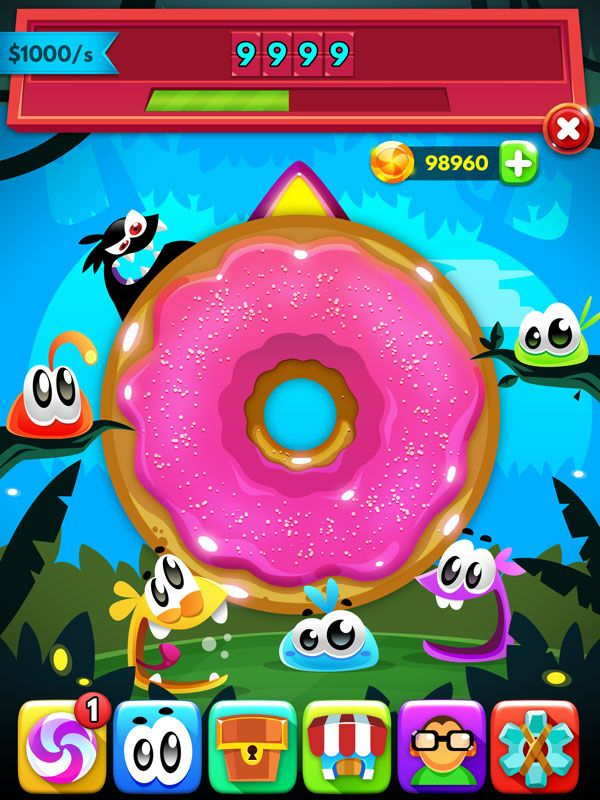Almighty Candies – Mobile Game on Behance – Game Art